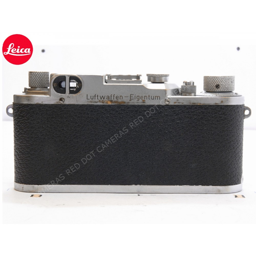 Leica IIIc Luftwaffen-Eigentum and Elmar 5cm f3.5 with Case