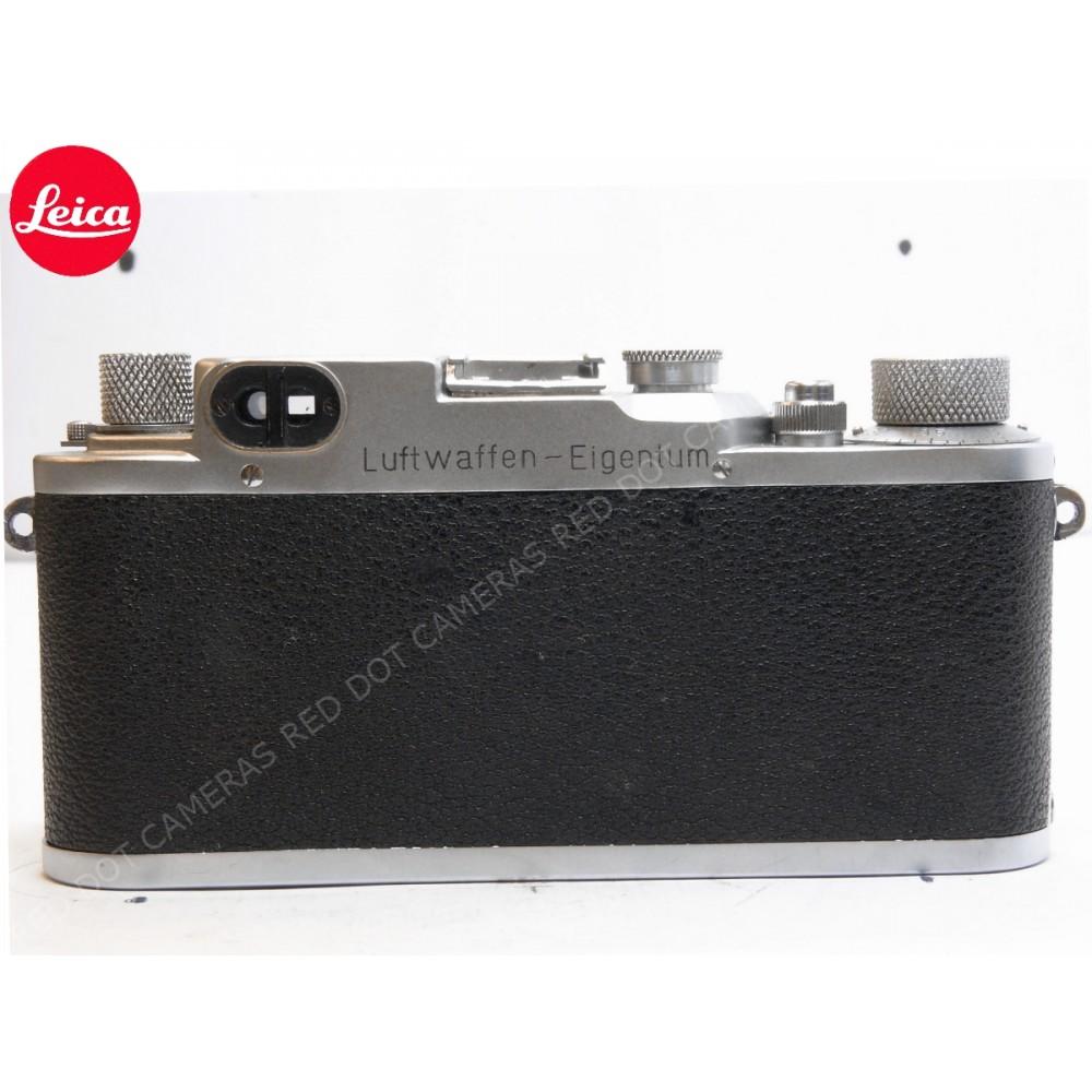 Leica IIIc Luftwaffen-Eigentum and Summitar 5cm f2 with Case
