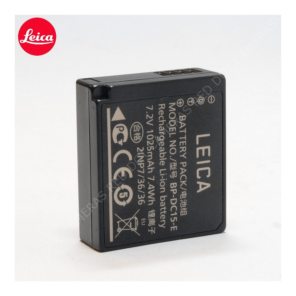 leica lithium ion battery bp dc15 e for d lux typ 109 red dot cameras. Black Bedroom Furniture Sets. Home Design Ideas
