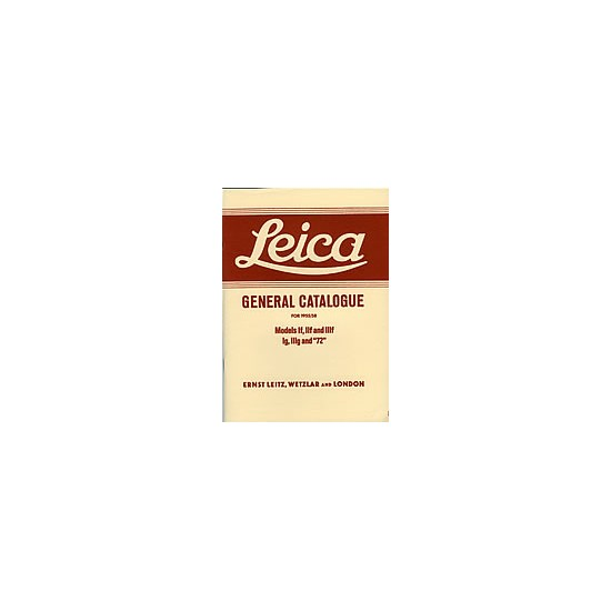 Leica General Catalogue 1955/58