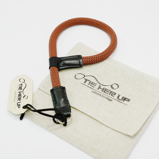 'Tie Her Up' Komboloi Wrist Strap Brown