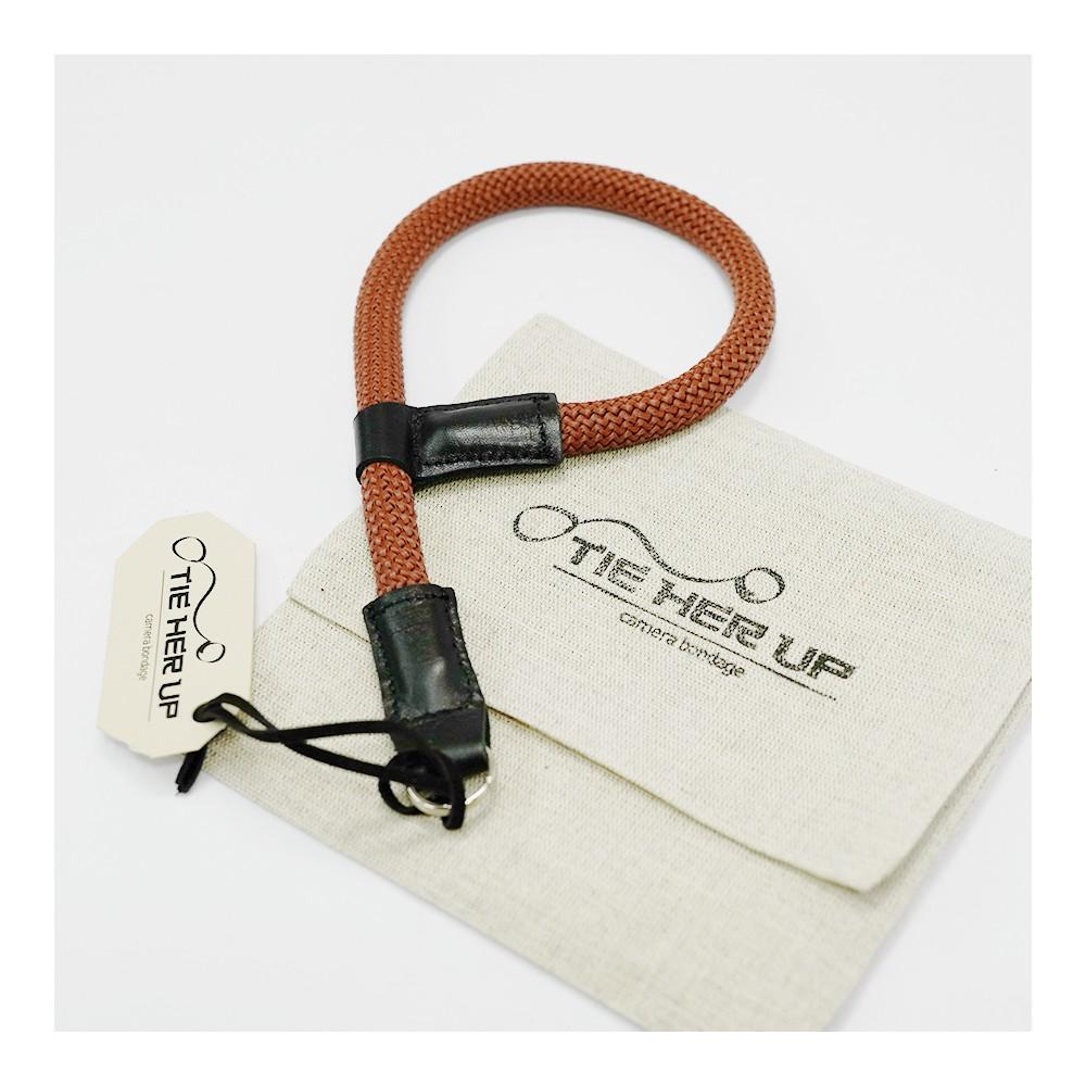 'Tie Her Up' Komboloi Wrist Strap Brown