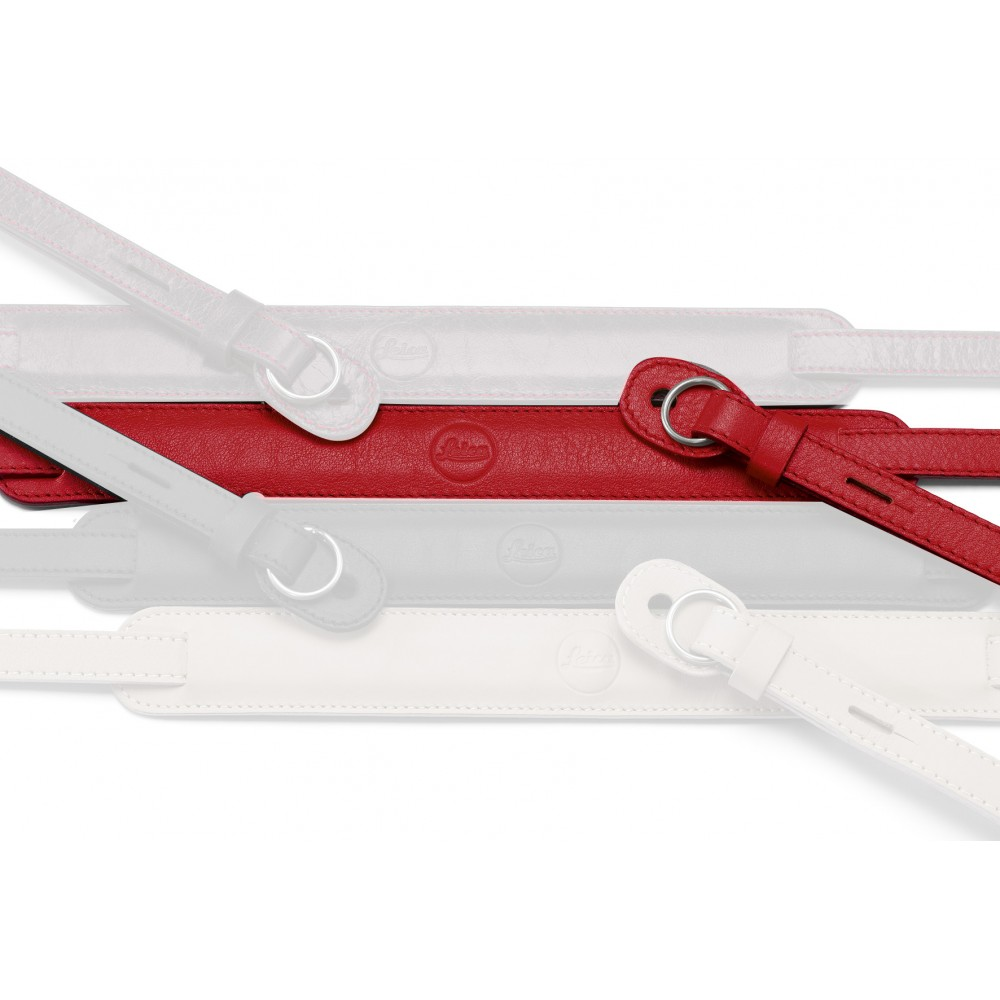 Leica Neck Strap Leather Red