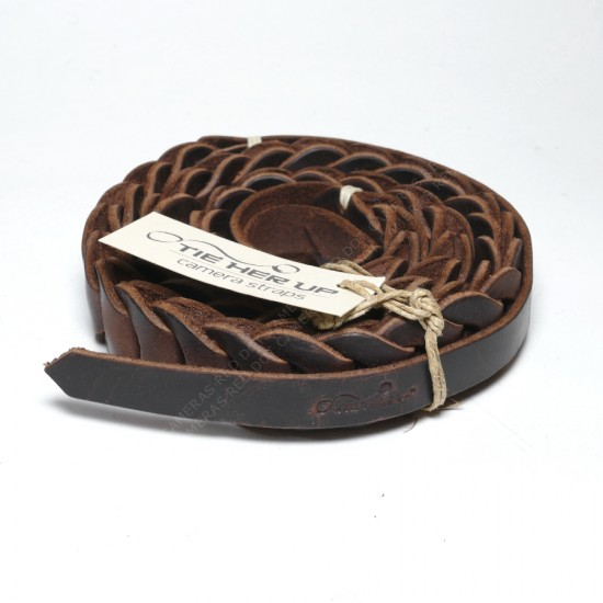 'Tie Her Up' Rock N Roll 100cm Cigar Brown Neck Strap for SL