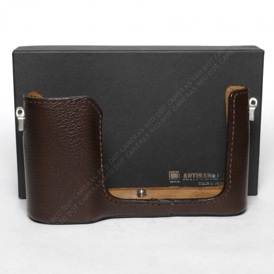 Artisan & Artist Leather Protector for Leica-TL Camera Brown