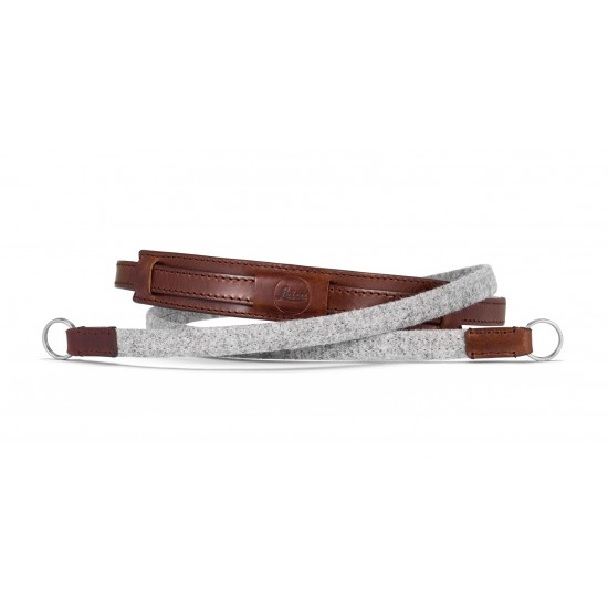 Leica Neck Strap Lefestyle Leather/Fabric Grey