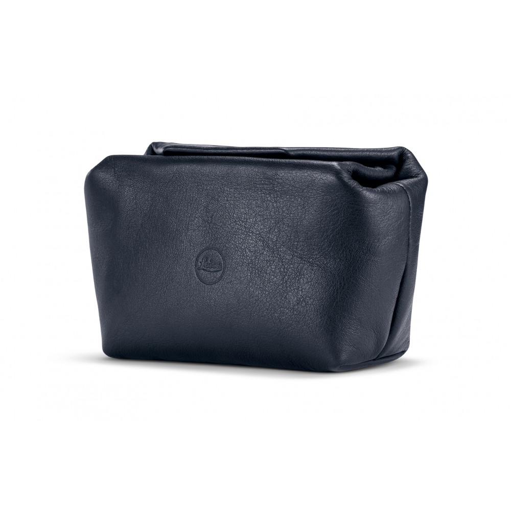 Leica Soft pouch magnetic-closer, size S, leather, blue