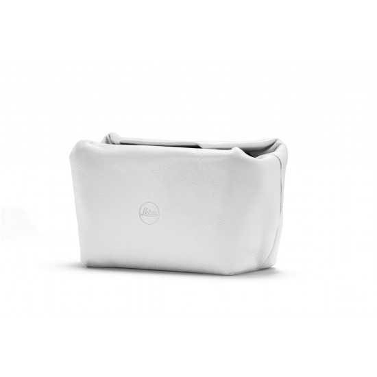Leica Soft pouch magnetic-closer, size S, leather, white
