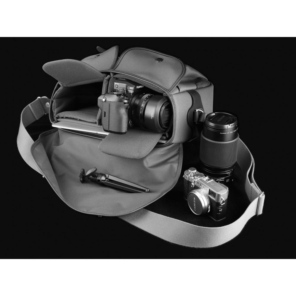 Billingham Hadley One Khak Tan Red Dot Cameras Black Canvas Leather