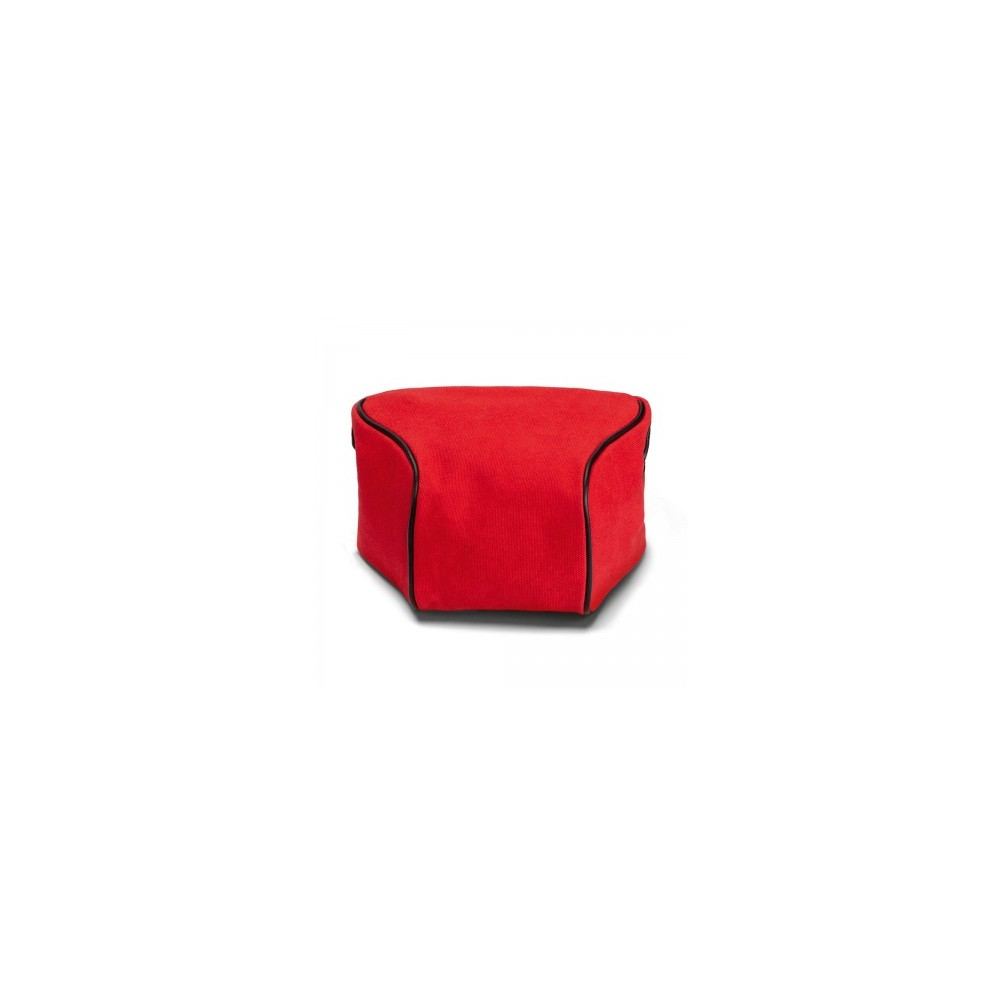 Leica Ettas Pouch, coated canvas, red
