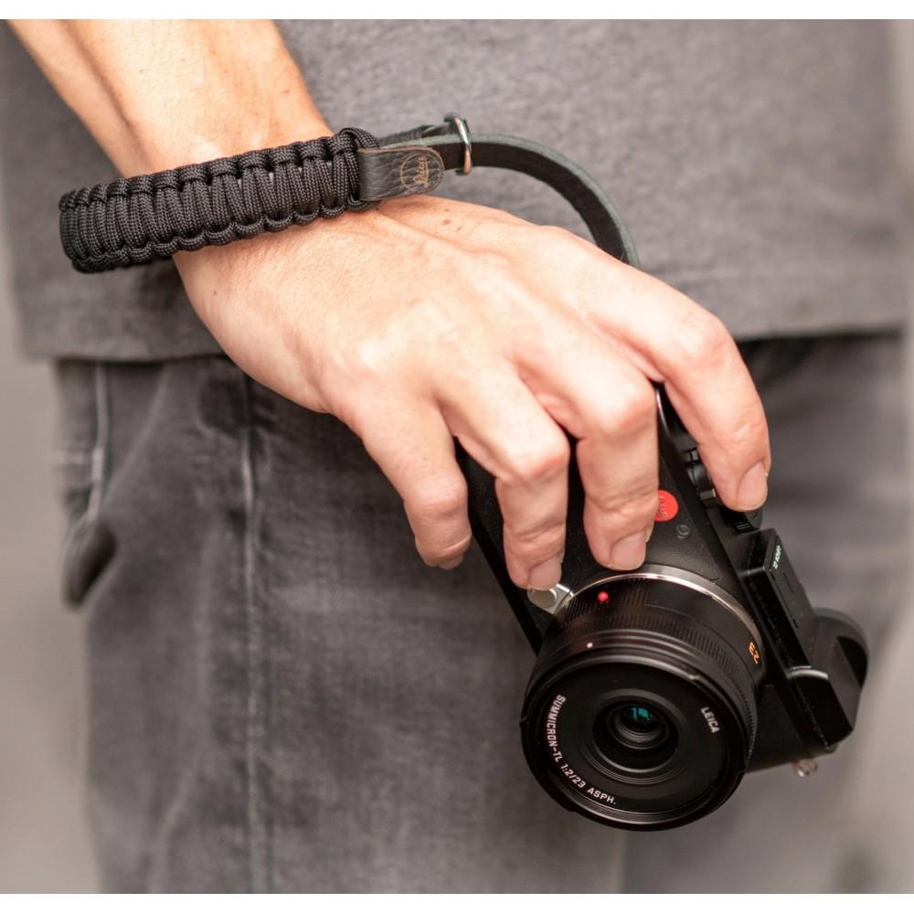 Leica Paracord Handstrap, BLACK/BLACK Designed by COOPH