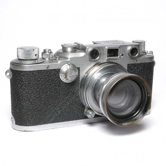 Leica IIIc Luftwaffen-Eigentum and Summar 5cm f2